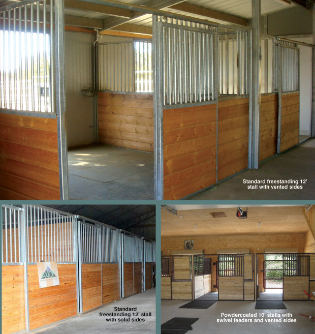 Horse stalls standard horse stalls triton horse stall for Two stall horse barn