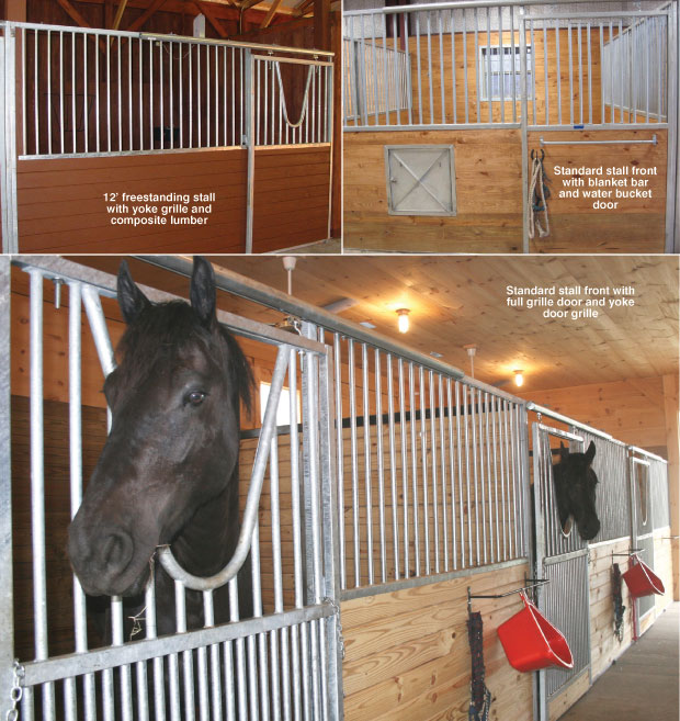 Horse Stalls Free standing modular galvanized steel horse stall & Horse Stalls: Standard Horse Stalls. Triton horse stall are ...