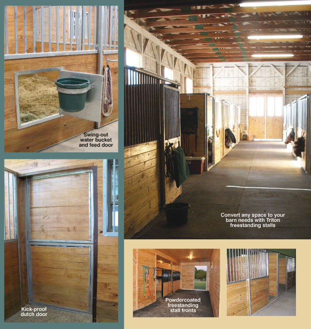 Horse Stalls Free Standing Modular Galvanized Steel Stall