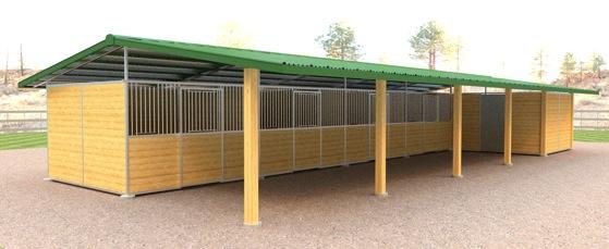 Horse Barns Triton Horse Barn Solid Wall Aisle Horse