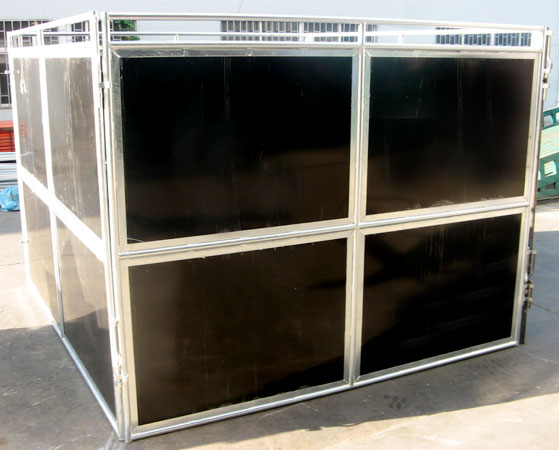 Black Poly Portable Horse Stall