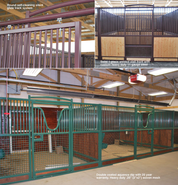 Stall fronts european stall front horse stalls stall for Four stall horse barn