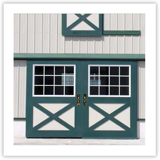 Cupolas dutch doors and horse barn doors triton barn for Metal barn doors