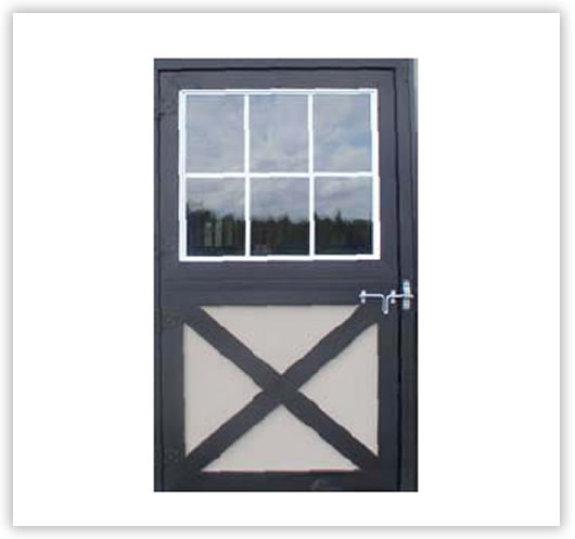 Horse barns: dutch door