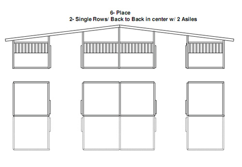 Custom horse Stalls Building End View 6