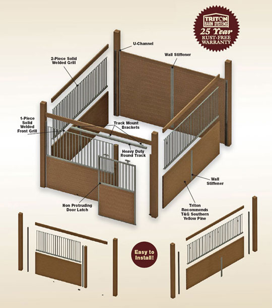Modular Free Standing Horse Stall Kits