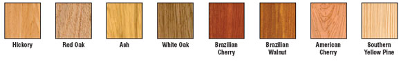 Wood Stain Color Options